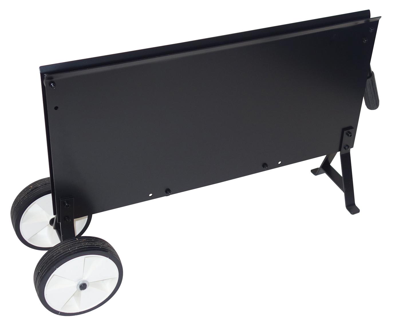 Stahlbandabroller M.Gr. Rädern schwarz Einl. 1 Ablagekasten