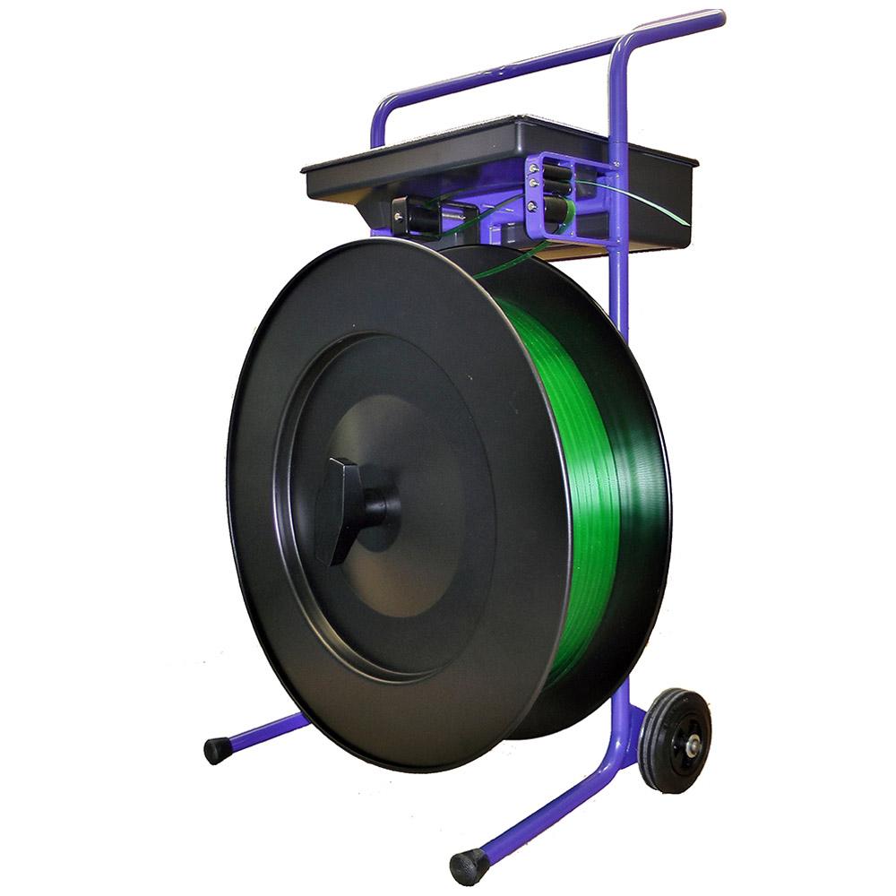 Abrollwagen central HD pro in Schwarz für 406er Kern für PP Band und PET Band