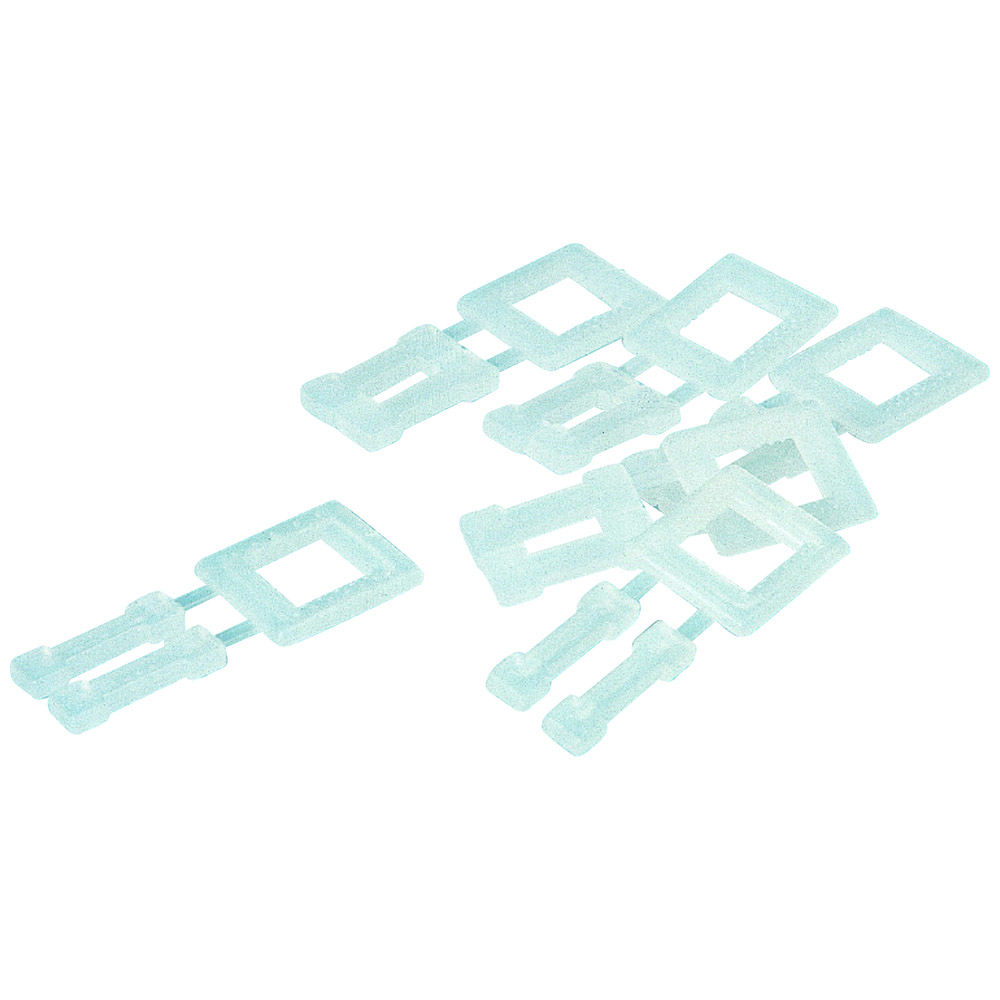 Kunststoffschnallen 16 mm Transparent