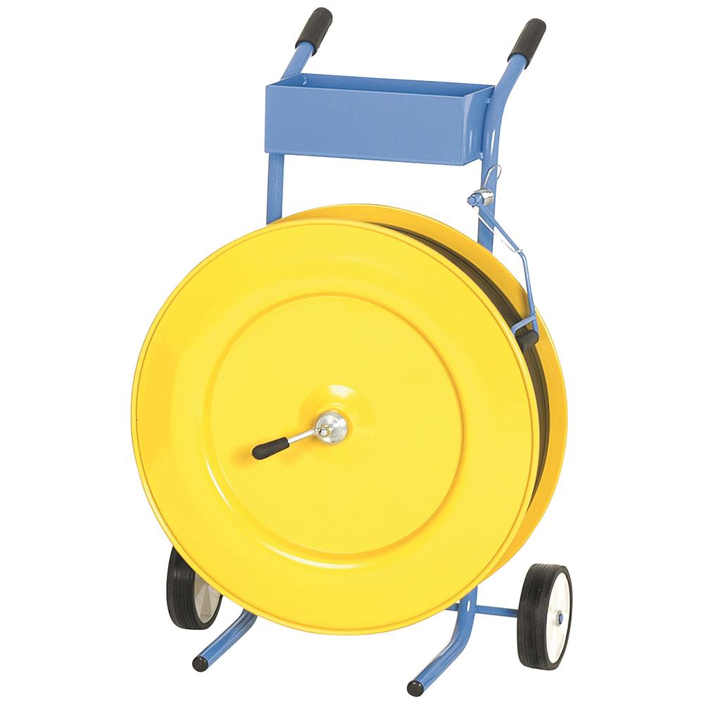 Abrollwagen mit Ablage und Bremse, 406 ER Kern gelb nur für PP Kunststoffband geeignet